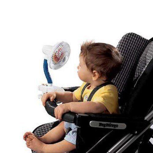 Kel Gar Pinwheel Fan Clip On Pushchair Buggy Stroller Pram Baby Toddler Holiday