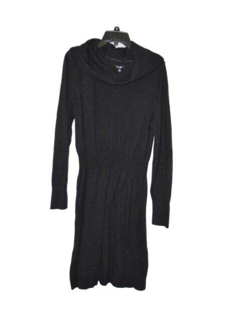 8a1c68a0f075 Apt. 9 Woman 1x Black Sweater Dress Holiday Party Ribbed Cowl Neck ...