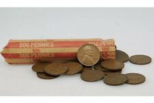1 Unsearched Roll Lincoln Wheat Pennies Hand Rolled (50 Coins)