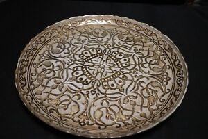 Murano-Italian-Art-Glass-Plate-or-Bowl-Large-Size-Majestic-Regal-Design