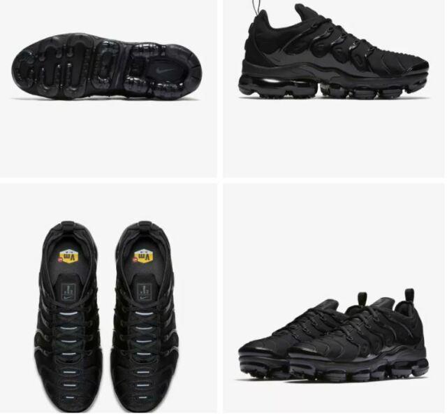 Authentic Nike Air Vapormax Plus Men/'s NIB Men/'s NIB Black//Silver//Volt