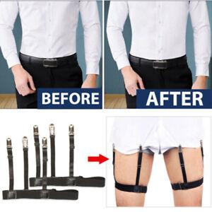 Male-Men-Hidden-Shirt-Stays-Holder-Garters-Belt-Non-Slip-Elastic-Lockin-iv