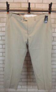 NWT MSRP $60 CHAPS Men/'s Classic-Fit Flat-Front Pants STONE Sizes 32 36 40
