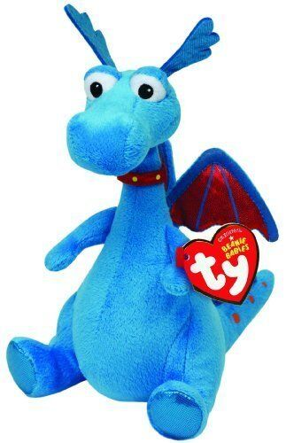 "Ty Beanie Babies 6/"" Stuffy the Dragon Stuffed Animal Plush New w// Heart Tags"