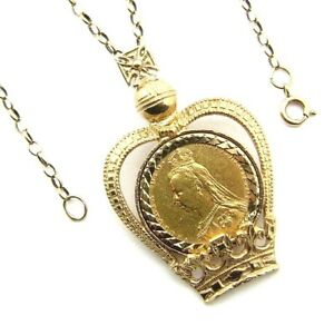 cb785c27817f5 Details about Ladies/womens 22ct gold stunning sovereign pendant with a 9ct  gold belcher chain