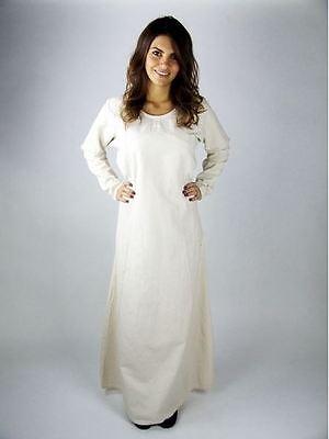 Medieval Ages Reenactment Larp Drapery Undergarment S-XXXL natural Dress Maid