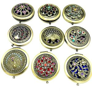 Special-Day-Gift-Vintage-Makeup-Folding-Compact-Cosmetic-Mirror-Handbag-mirrors