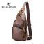 BULLCAPTAIN Men Anti-theft Genuine Leather Chest Bag HOT SALE
