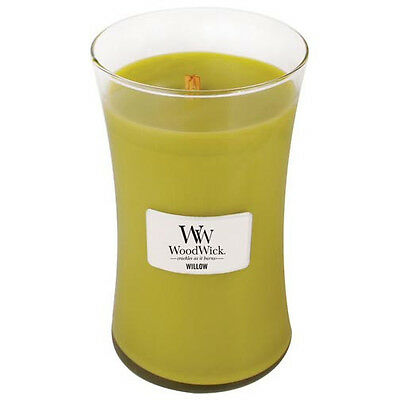 Woodwick White Willow Moss 22oz Large Jar Candle FREE P/&P