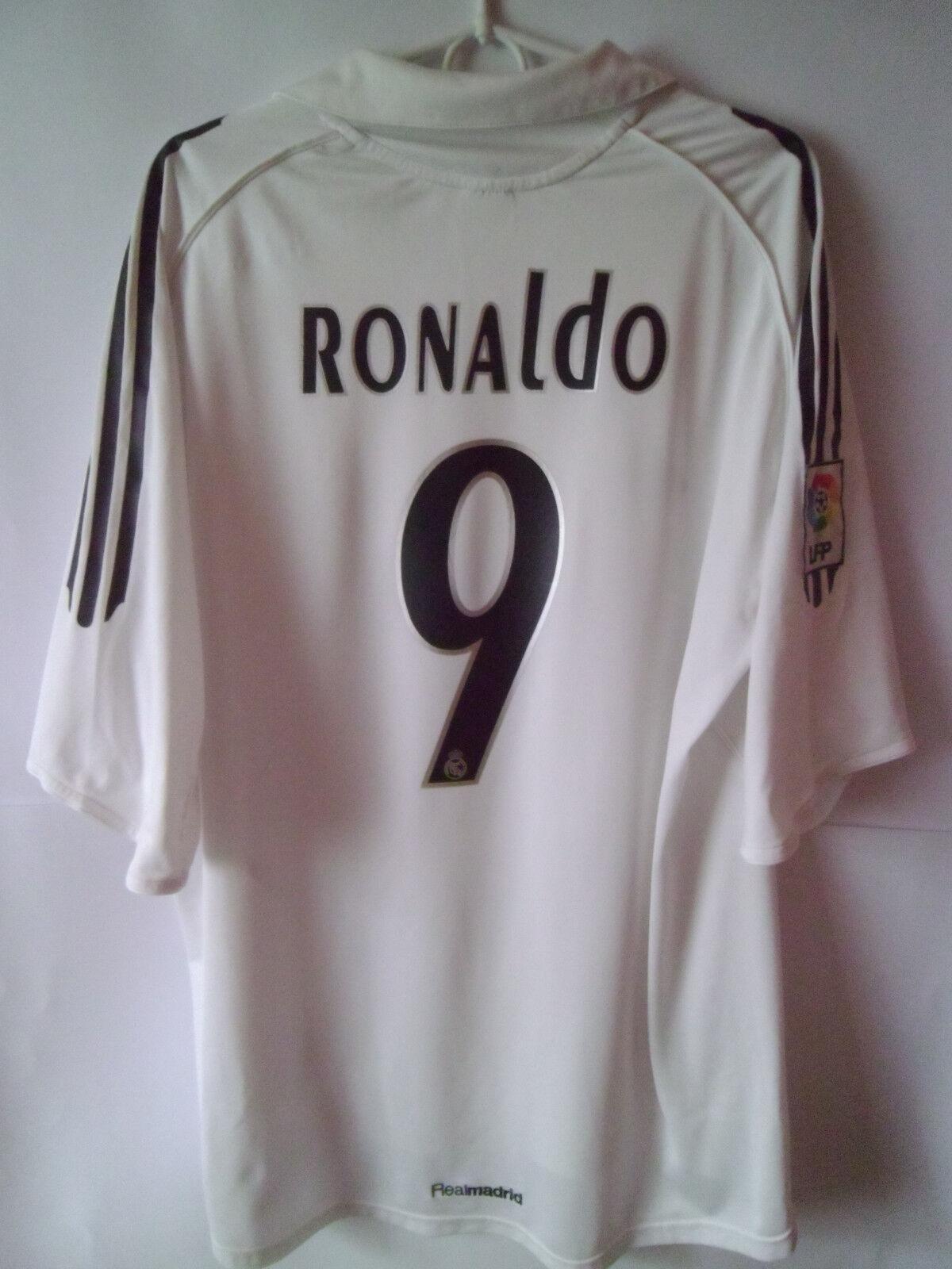 RONALDO     2005-06 Real Madrid Home Shirt Jersey Trikot XXL 2XL