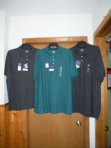 Big /& Tall Men/'s Polo T-Shirts Croft /& Barrow 3XLT,3XB,2XB,Charcoal Grey /& Teal