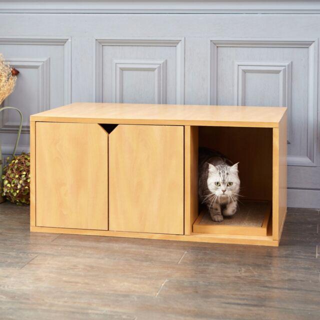 Cat Litter Box Enclosed Kitty
