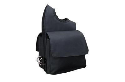 Black heavy duty Trail Saddle Bag Weaver Horse Tack