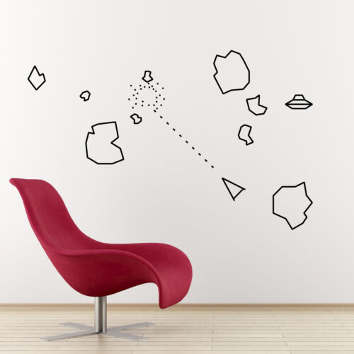 Asteroids Wall Sticker Pack Cult 70/'s Video Gamer Stickers for Retro Geeks