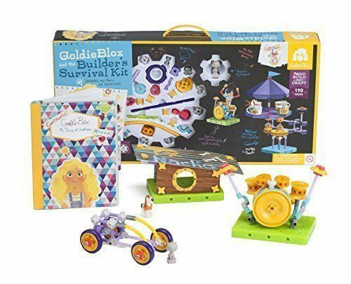 goldie Blox & the Builder's Survival Kit Kids Tech Engineering Toy Set Gift New