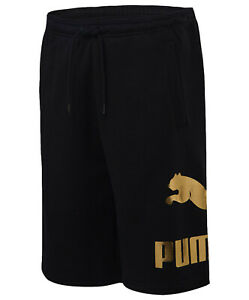 Puma-Archive-Logo-Bermuda-Mens-Regular-Elastic-waist-Black-Shorts-571748-31-RW81