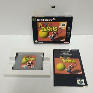 Mario Tennis Nintendo 64 N64 Juego en Caja Completa PAL oz69