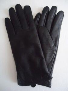 Ladies-Genuine-Leather-100-Cashmere-Lined-Gloves-Black-Medium