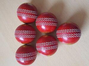 Cricket-Practicing-Hard-balls-indoor-and-outdoor-6-pack-ORANGE-RED