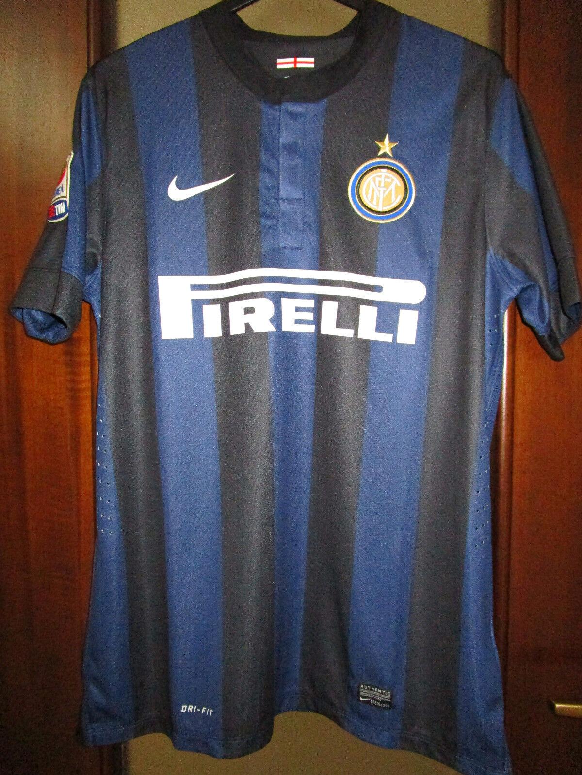 Maglia Inter 2013 2014 J.Zanetti 4 Home Player Version Originale Shirt Addio JZ4