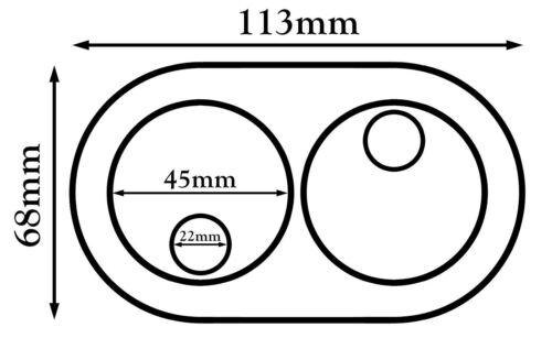 15mm-28mm Doppelt PVC Weiß Kühler Kunststoff Wasserrohr Abdeckung Halsband