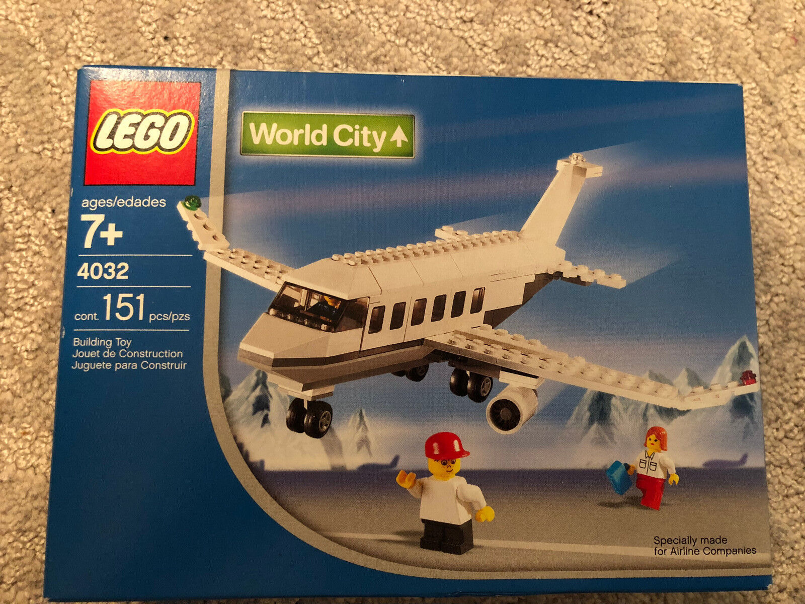 LEGO AIR 4032 Town World City City City Airport Passenger Plane - NEW & Rare 2213fe