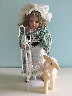 """The Ashton-Drake Galleries """"Little Bo Peep"""" Porcelain Doll"""