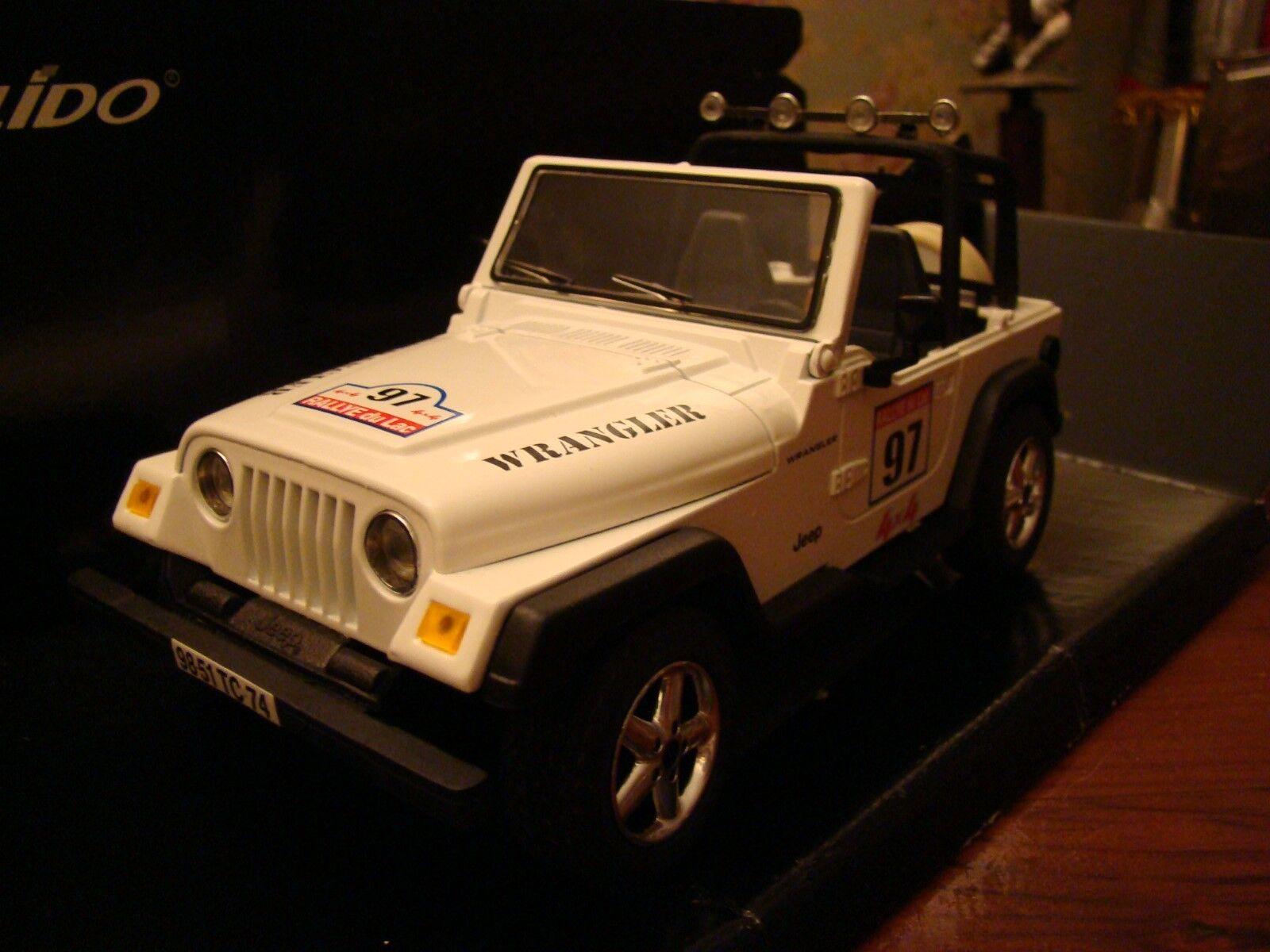1 18 Jeep Wrangler 4x4 Rallye Du Lac Rally of the Lakes Rare
