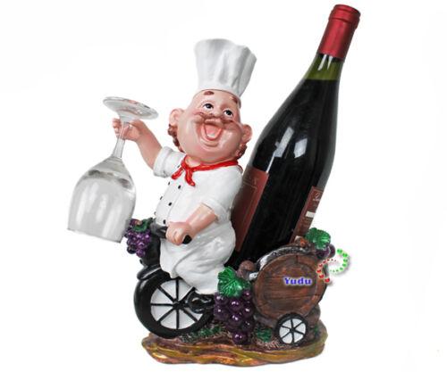 Chefkoch Deko Glashalter Weinflaschenhalter Küche Gastro Nr:1068