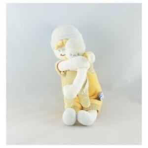 Doudou-poupee-garcon-jaune-bleu-avec-bebe-SUCRE-D-039-ORGE-Poupee-Lutin-Classiqu