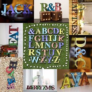 Shabby-Chic-Vintage-Large-Wooden-Letters-11-cm-Free-standing-A-to-Z-amp-Alphabet