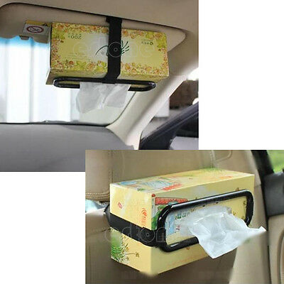 Auto Accessories Car Sun Visor Tissue Box Holder Paper Napkin Seat Back Bracket