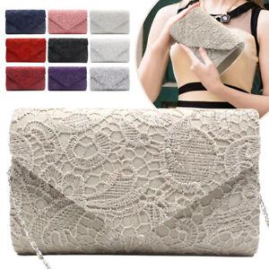Image Is Loading New Las Grace Lace Envelope Clutch Bag Party