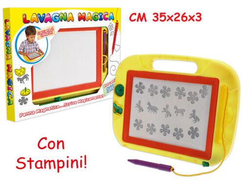 Lavagna Magica 32x24 Cm Con Penna Magnetica E 2 Timbrini Teorema Merchandising