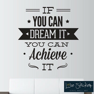 Wall Stickers Dreams Sail Office Motivation Bathroom Quote Art Decals Vinyl Home