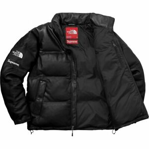 Supreme-X-The-North-Face-TNF-Leather-Jacket-Black-Size-Large