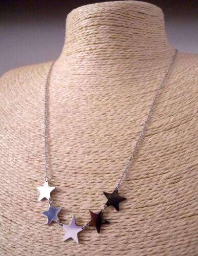 Bracciale in Acciaio Inox da Donna Stelle Stelline Femminile Color Argento e Oro