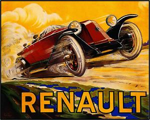 Large Vintage Retro Classic Car watercolour Quality art poster Print 610x900 mm