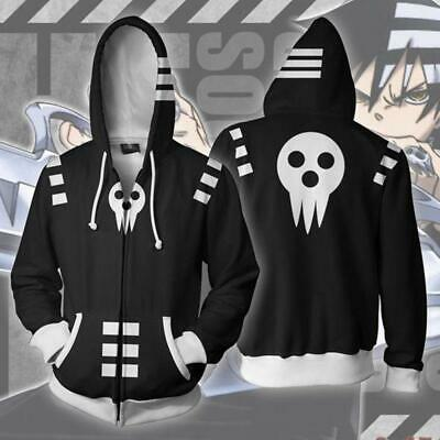 Anime Inspired Kid/'s Printed Hoodie Skull Shield Soul Eater