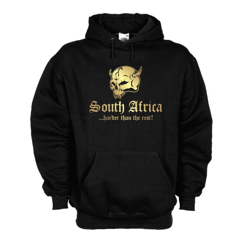 Kapuzenpulli SÜDAFRIKA (South Africa) harder than the rest, Hoodie (WMS05-61d)