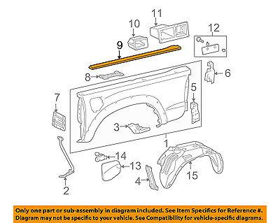 TOYOTA 76925-02010-B0 Side Mudguard Protector
