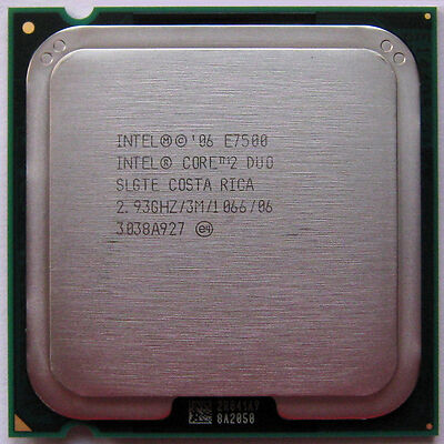 intel 2.93 GHz LGA775 Core 2 Duo E7500 Processor, core2duo 2.93GHZ