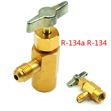 One Pcs Golden Automobile R134a R-134 Brass AC Can Tap Dispensing Valve Tool Kit