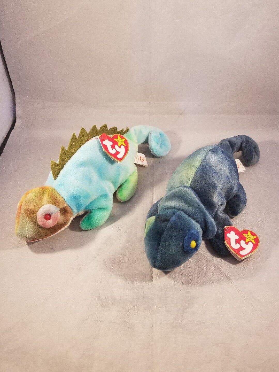 Rare Iggy and Rainbow beanie babies