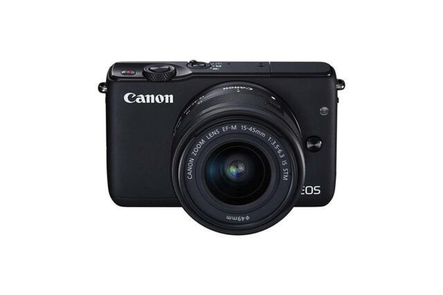 Canon EOS M10 with EF-M 15-45mm Image Stabilization STM Lens Kit, Black
