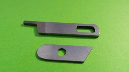 gelocht Ober und Untermesser Messer für Singer 14U-14SH Overlock Maschinen