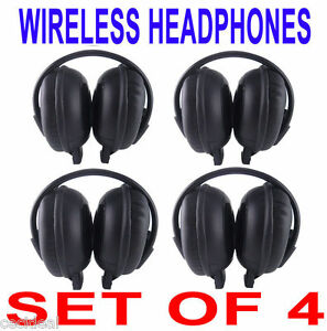 4-NEW-GM-GMC-Yukon-Denali-Wireless-DVD-Car-Headphones