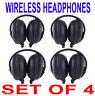 4 NEW GM GMC Yukon Denali Wireless DVD Car Headphones