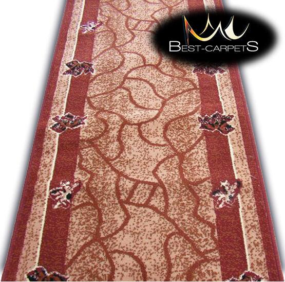 Tappeto Moderno Sala Corridore BCF foglie di quercia Scale Larghezza 60cm-200cm Extralunghi Rugs