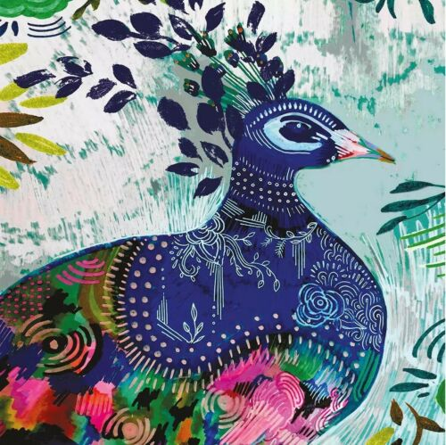 4 Lunch Paper Napkins for Decoupage Party Table Craft Vintage  Peacock Folklore